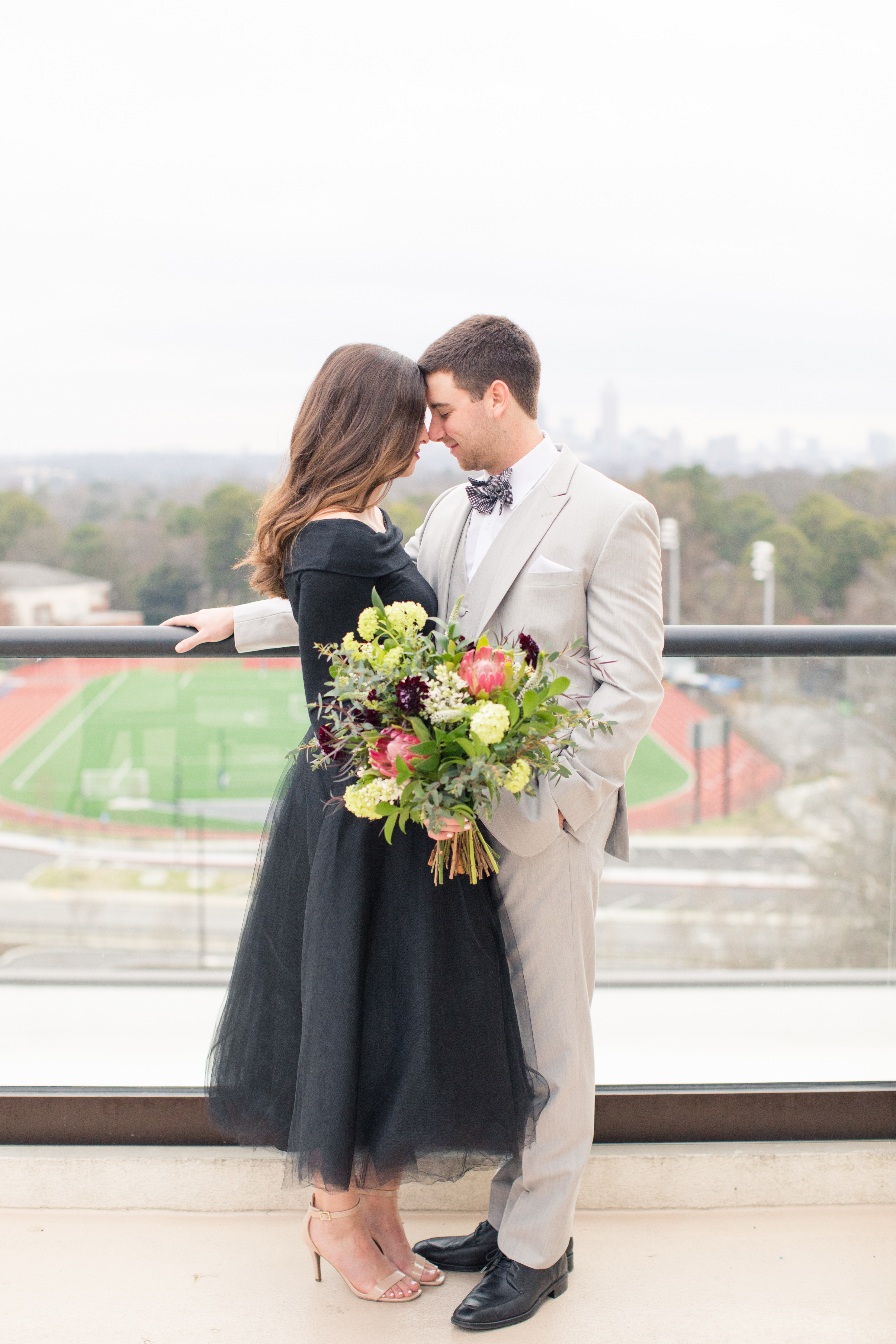 Romantic Atlanta Rooftop Styled Engagement Session, Atlanta Wedding Planner
