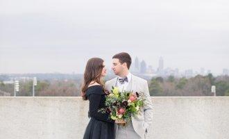 Romantic Atlanta Rooftop Styled Engagement Session, Atlanta Wedding Planner