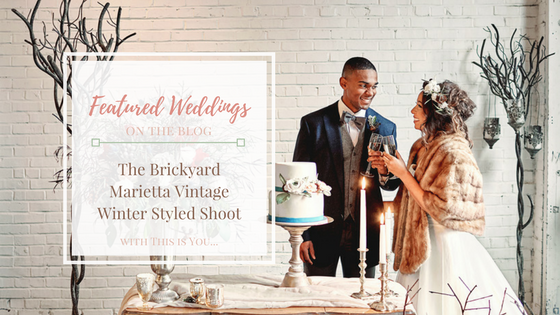 The Brickyard Vintage Winter Wedding Styled Shoot