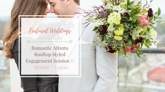 Romantic Atlanta Rooftop Styled Engagement Session