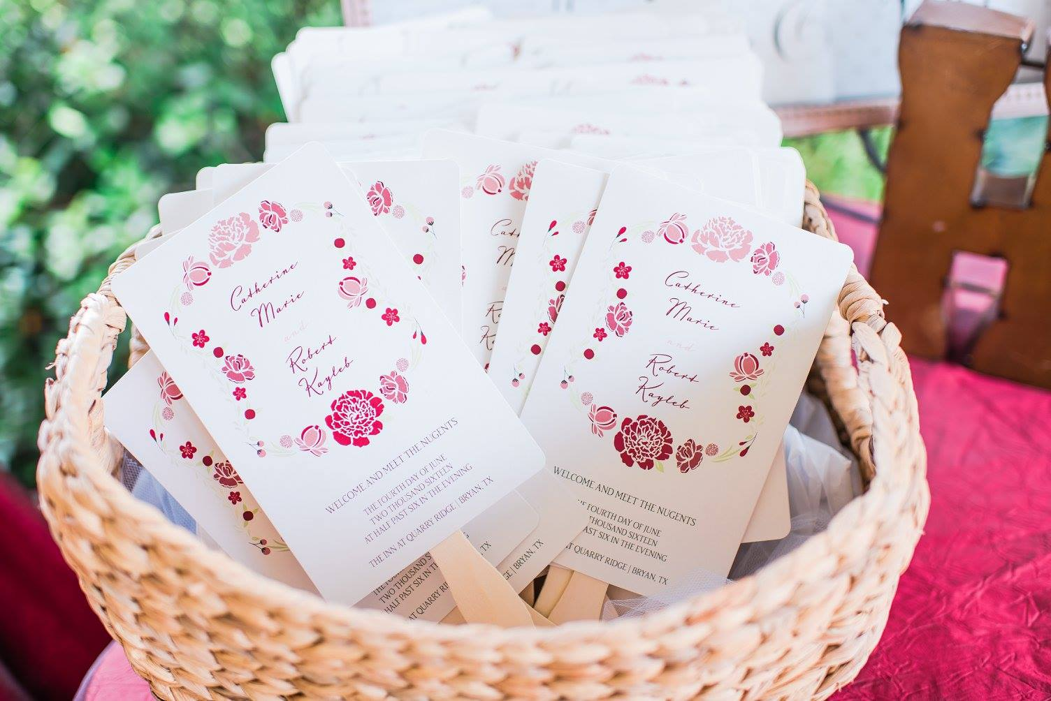 Summer Wedding Ideas, Fan Wedding Programs
