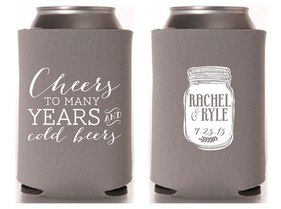 Summer Wedding Ideas, Summer Wedding Inspiration, Wedding Koozie Favors