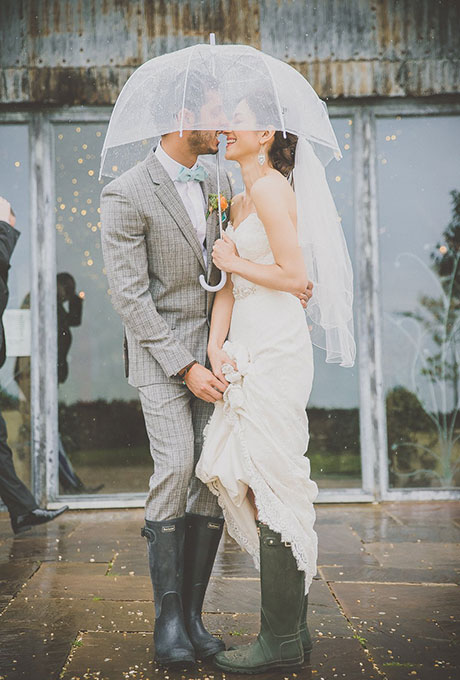 Embracing the Rainy Wedding Day, Rainy Wedding Day Inspiration, Wedding Rainboots