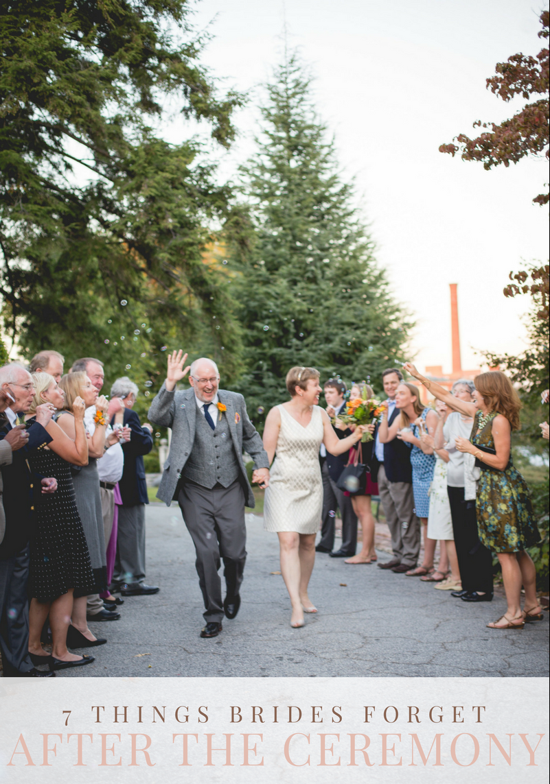 7 Things Brides Forget To Do After The Ceremony // What Brides Forget To Do On Their Wedding Day