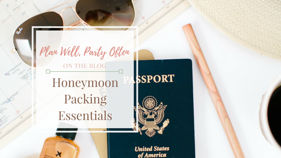 Honeymoon Packing Essentials, Atlanta Certified Wedding Planner