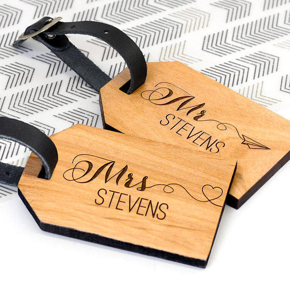 Honeymoon Packing Essentials, Personalized Luggage Tags