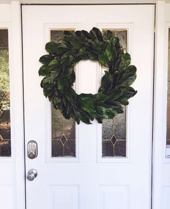DIY Magnolia Wreath Tutorial // A Hosting Home, Atlanta Lifestyle and Home Blogger Cathy Nugent