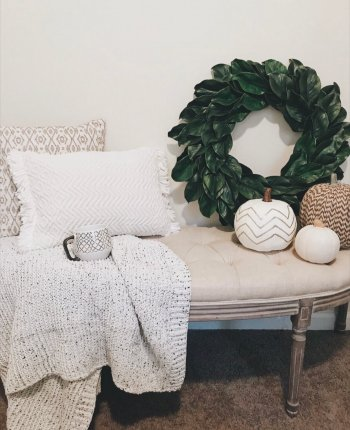 DIY Magnolia Wreath Tutorial, Farmhouse Decor Inspiration + What I'm Shopping For // A Hosting Home, Atlanta Lifestyle and Home Blogger Cathy Nugent
