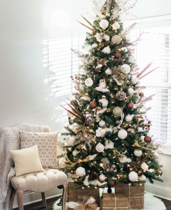 Introducing #AHostingHome + Holiday Home Tour, Simple Modern Farmhouse Neutral Christmas Decor