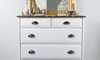 Farmhouse Guest Room Dresser Transformation / DIY Furniture Flip Before + After