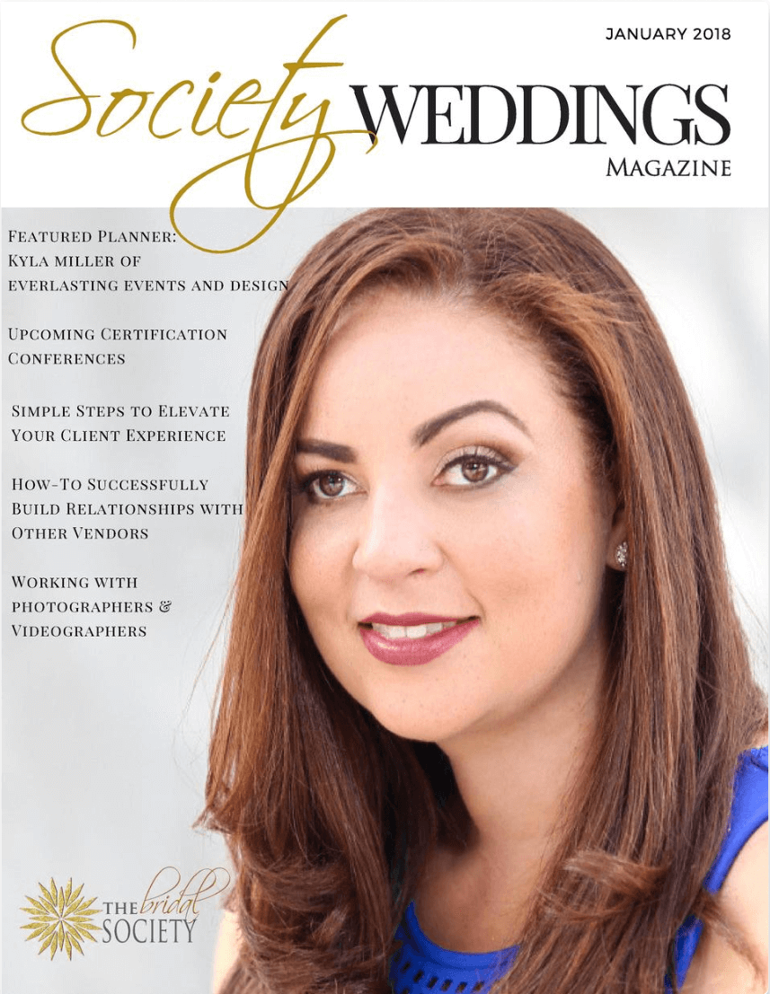 Society Weddings Magazine January 2018 Issue featuring Cathy Nugent
