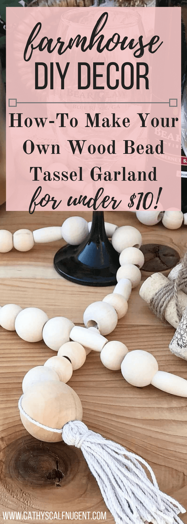 DIY Farmhouse Decor: How-To Make Your Own Wood Bead Garland
