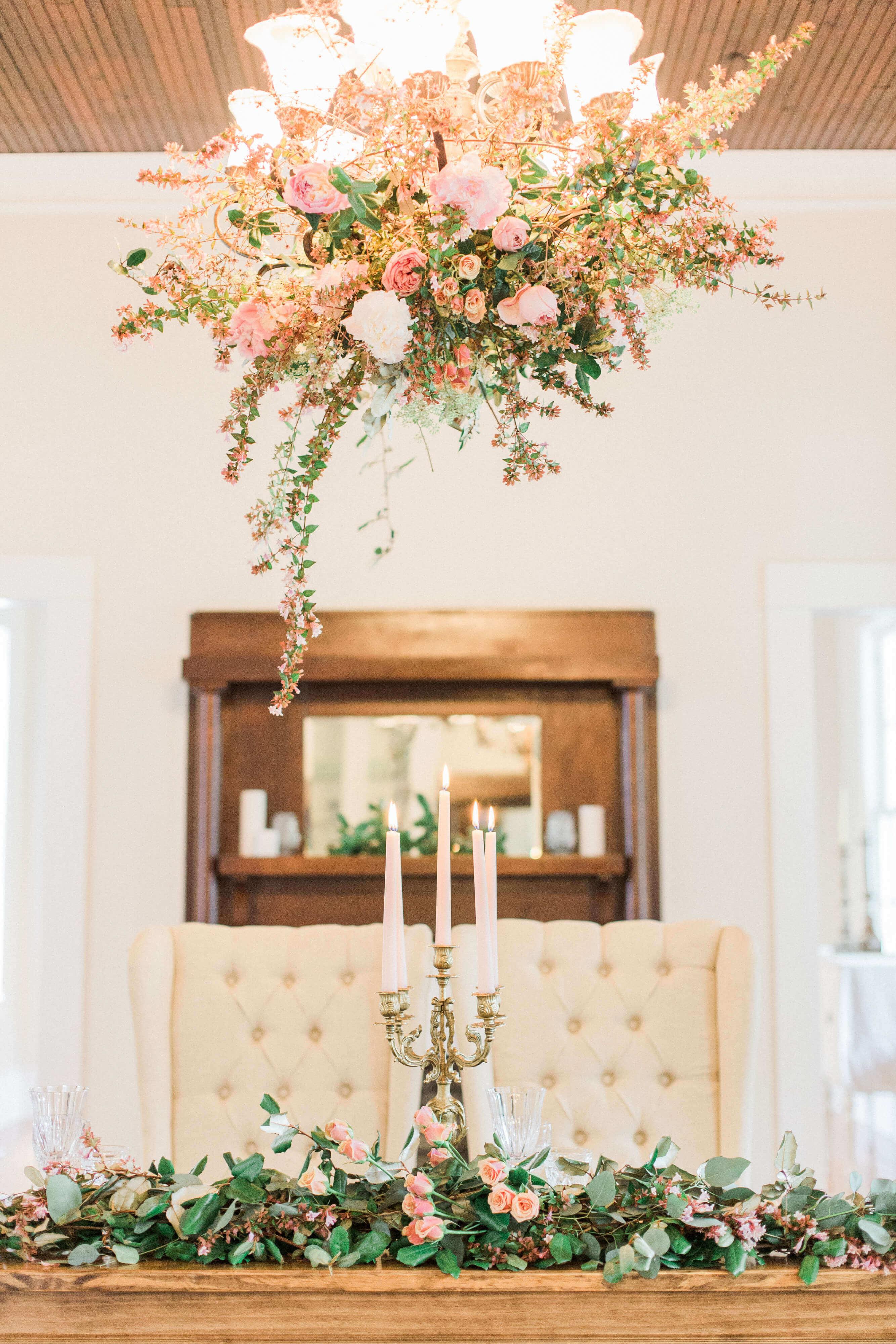 Romantic Springtime Blush Wedding Inspiration // The McGarity House Wedding Styled Shoot