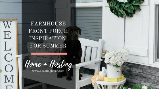 Farmhouse Front Porch Inspiration for Summer // Farmhouse Front Porch Decor