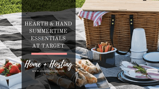 Must-Have Summertime Essentials from Hearth & Hand at Target // Summertime Backyard Picnic Essentials