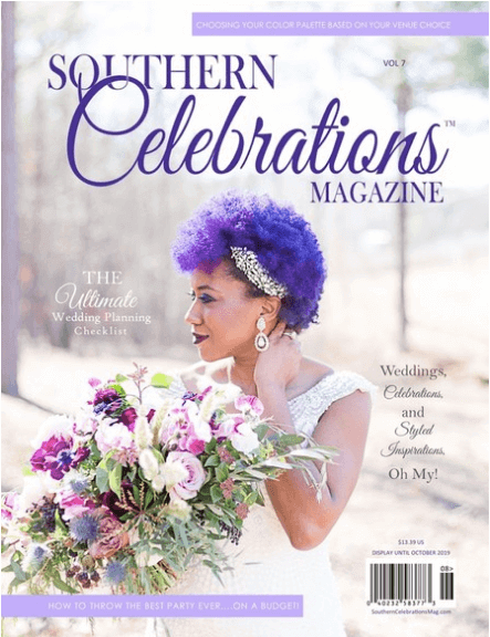 Volume 7 of Southern Celebrations Magazine featuring Cathy Nugent and A Hosting Home