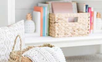 Modern Farmhouse Storage Baskets with Wayfair // Wayfair Storage Solutions // Wayfair Storage Baskets