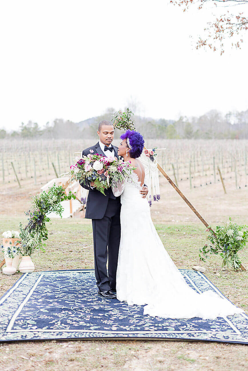 Pantone Inspired Ultra Violet Bohemian Wedding Inspiration // A Hosting Home // Bear Claw Vineyards Wedding Styled Shoot // Atlanta Certified Wedding Planner