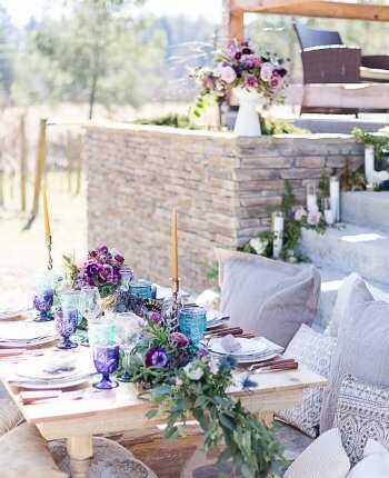 Pantone Inspired Ultra Violet Bohemian Wedding Inspiration // Bear Claw Vineyards Wedding Styled Shoot