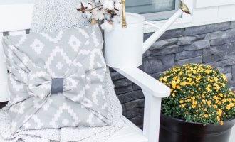 Fall Farmhouse Front Porch Inspiration // A Hosting Home