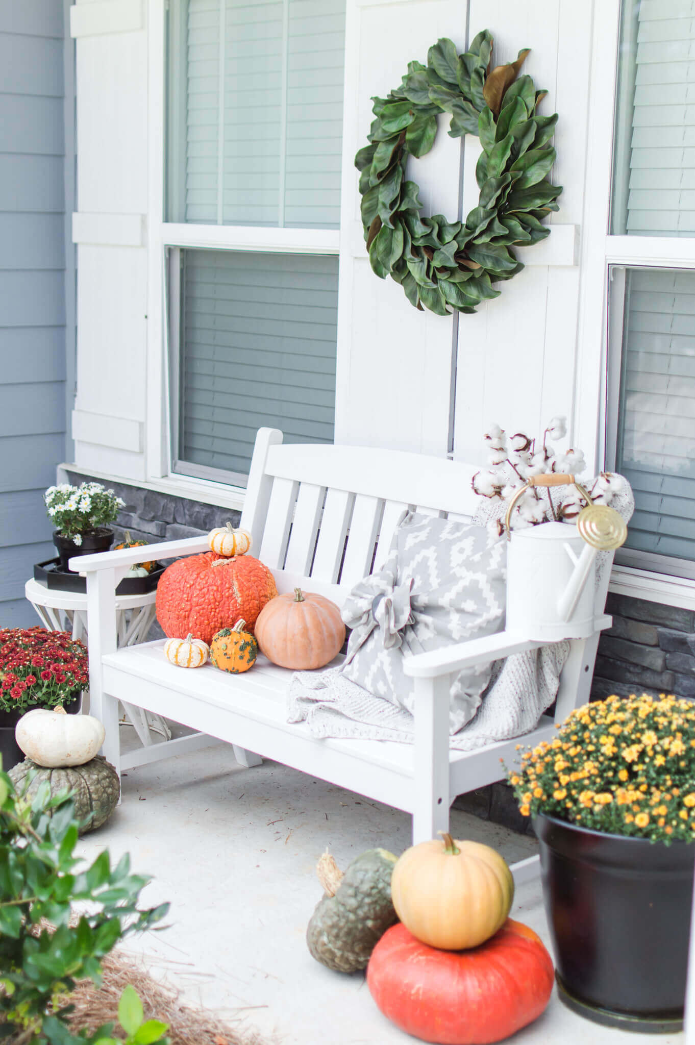 Fall Farmhouse Front Porch Inspiration // A Hosting Home