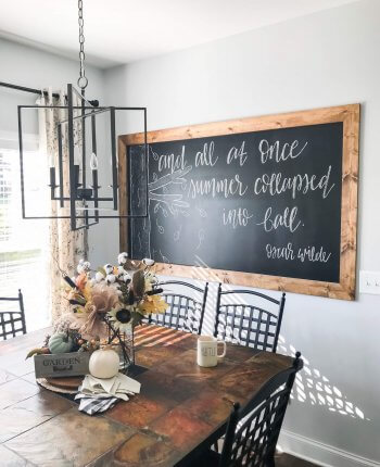 DIY Framed Chalkboard Wall Tutorial // A Hosting Home