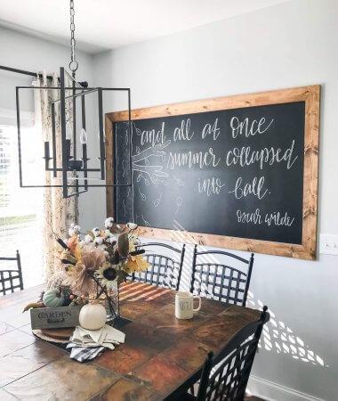 DIY Framed Chalkboard Wall Tutorial // A Hosting Home