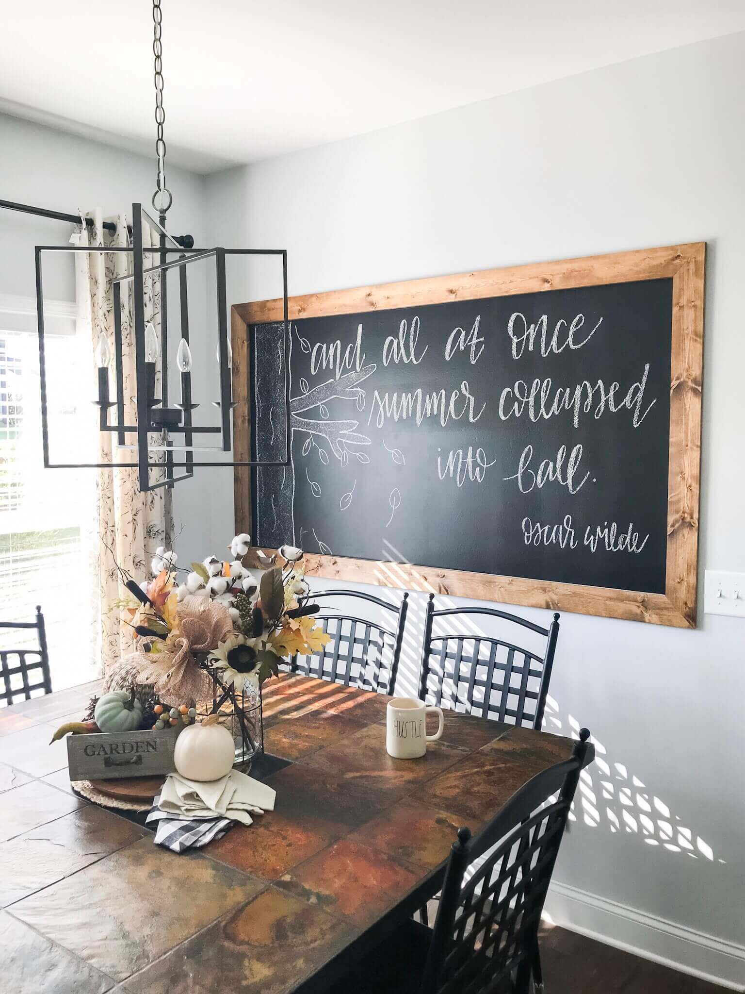 DIY Framed Chalkboard Wall Tutorial | A Hosting Home