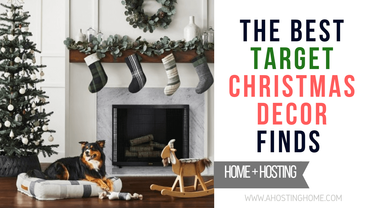 The Best Target Christmas Decor Finds PIN // A Hosting Home Blog