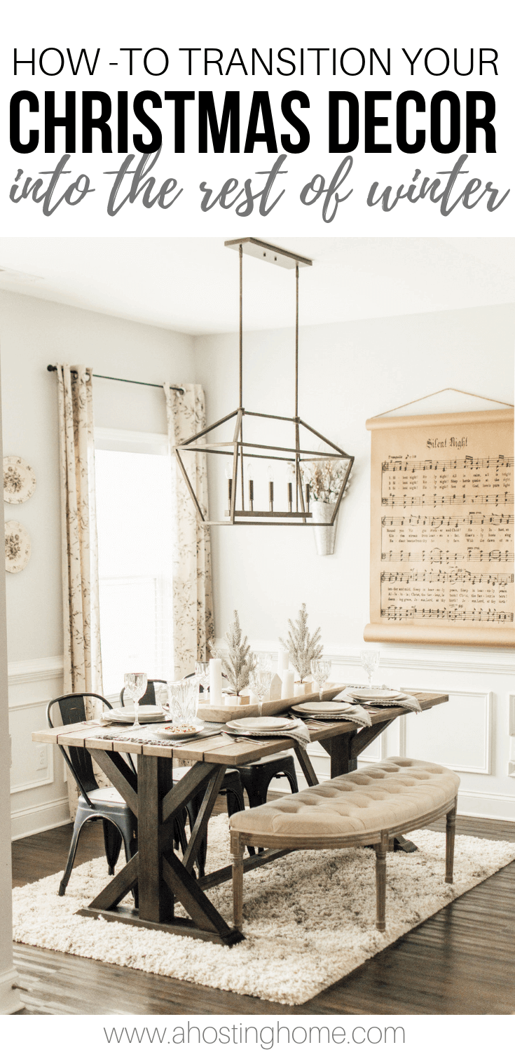 How-To Transition Your Christmas Decor into the Rest of Winter PIN // A Hosting Home Blog