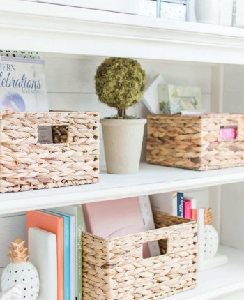 Farmhouse Inspired Storage Baskets // A Hosting Home Blog