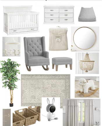 Baby Boy Neutral Nursery Design Inspiration // A Hosting Home Blog