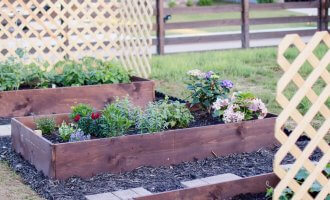 DIY Raised Garden Beds / A Hosting Home Blog