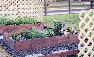 DIY Raised Garden Beds / A Hosting Home Blog