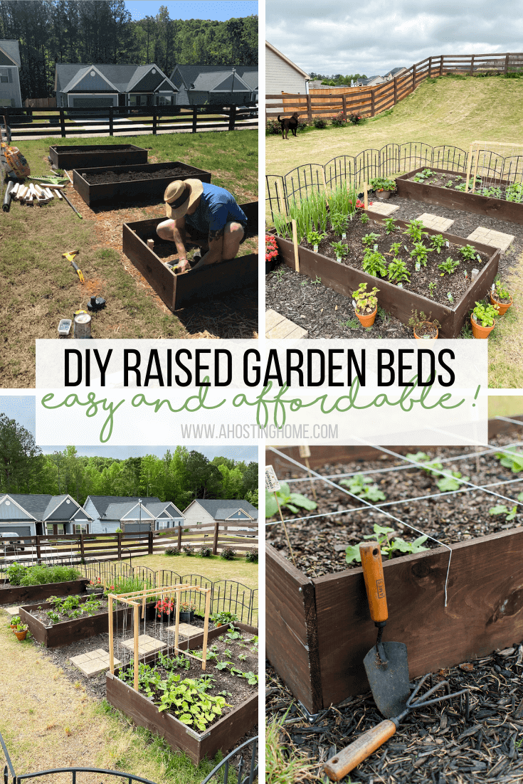 DIY Raised Garden Beds Tutorial / A Hosting Home Blog
