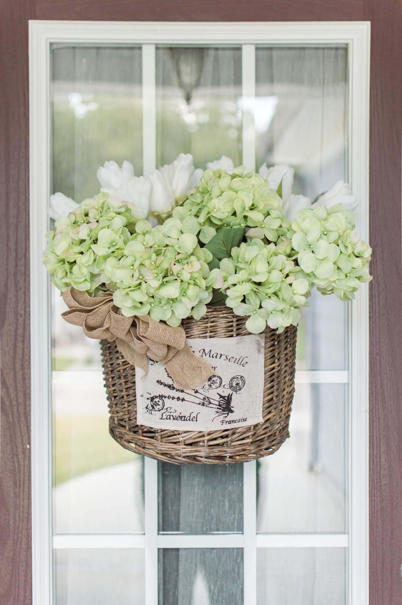 Market Basket Wreath Inspiration For Summer / A Hosting Home Blog