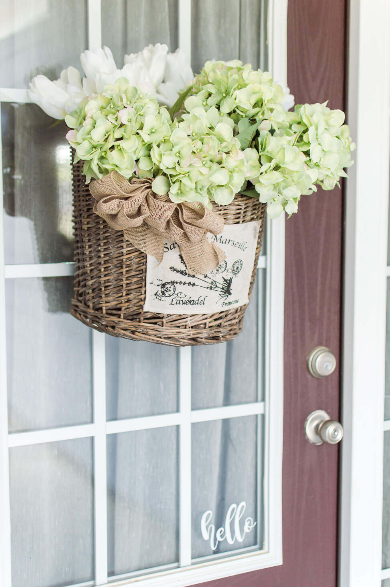 Market Basket Wreath Inspiration For Summer / A Hosting Home Blog