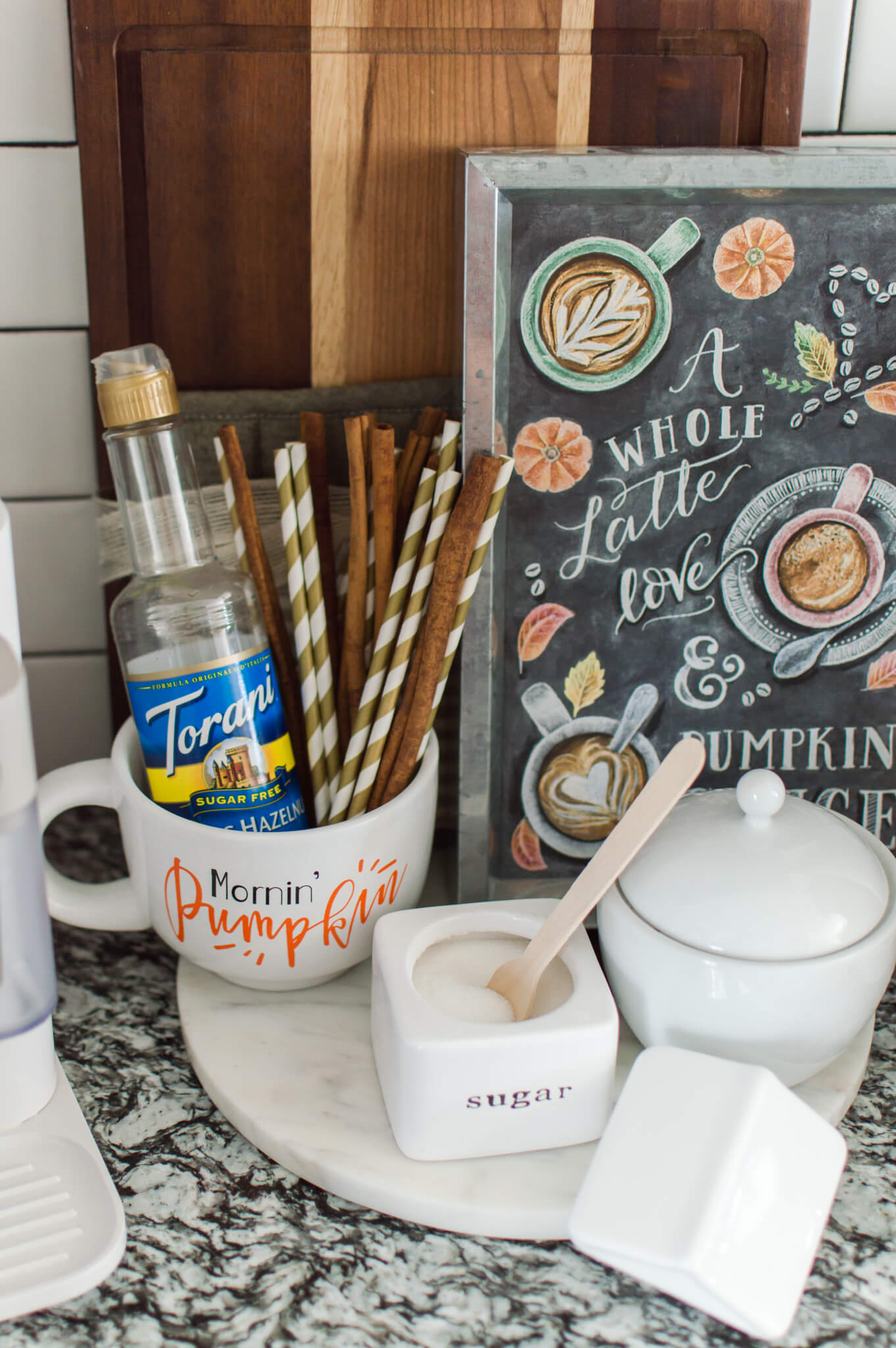 Creating a Cozy Fall Coffee Bar / A Hosting Home Blog