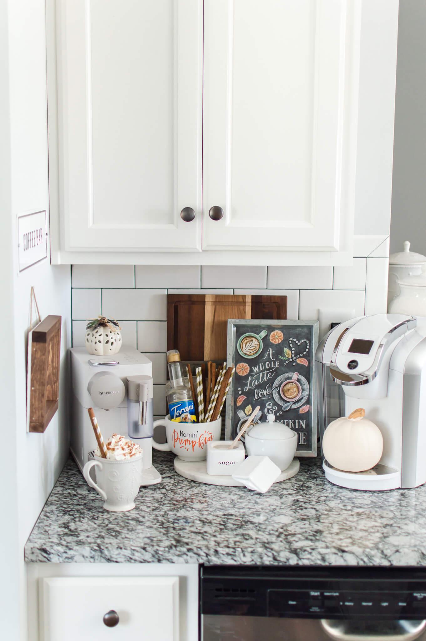 Creating a Cozy Fall Coffee Bar / A Hosting Home Blog