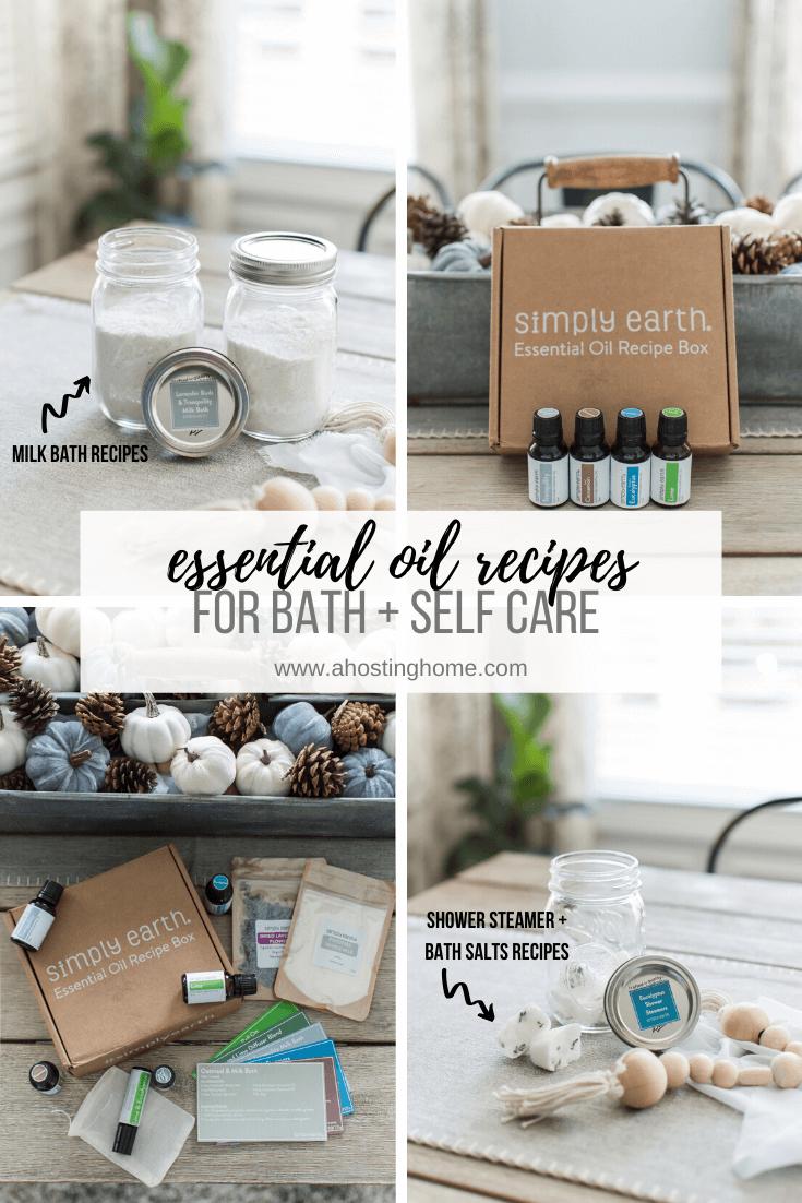Simply Earth November Essential Oil Recipe Box / A Hosting Home Blog