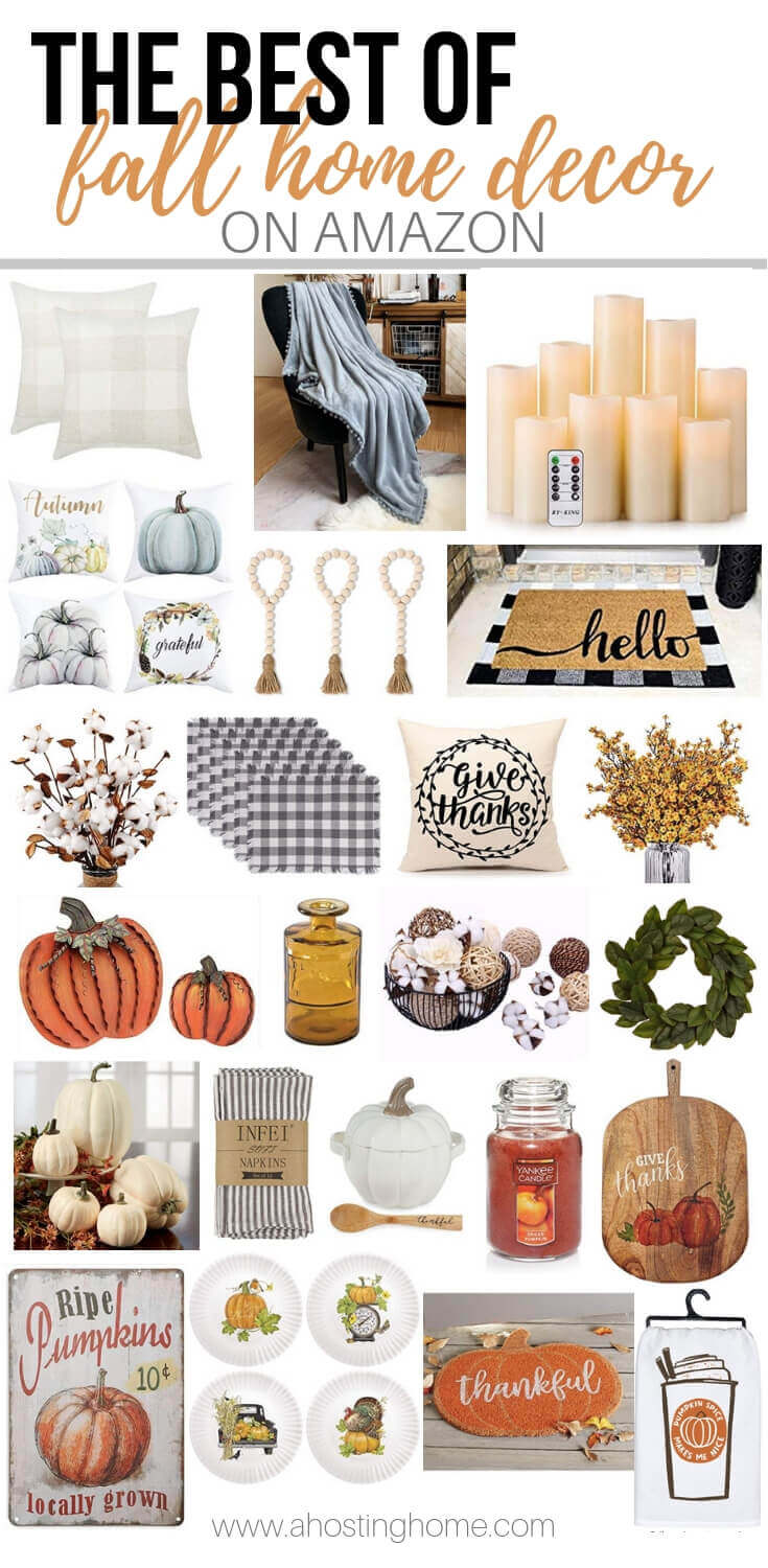 The Best of Fall Home Decor on Amazon / A Hosting Home Blog