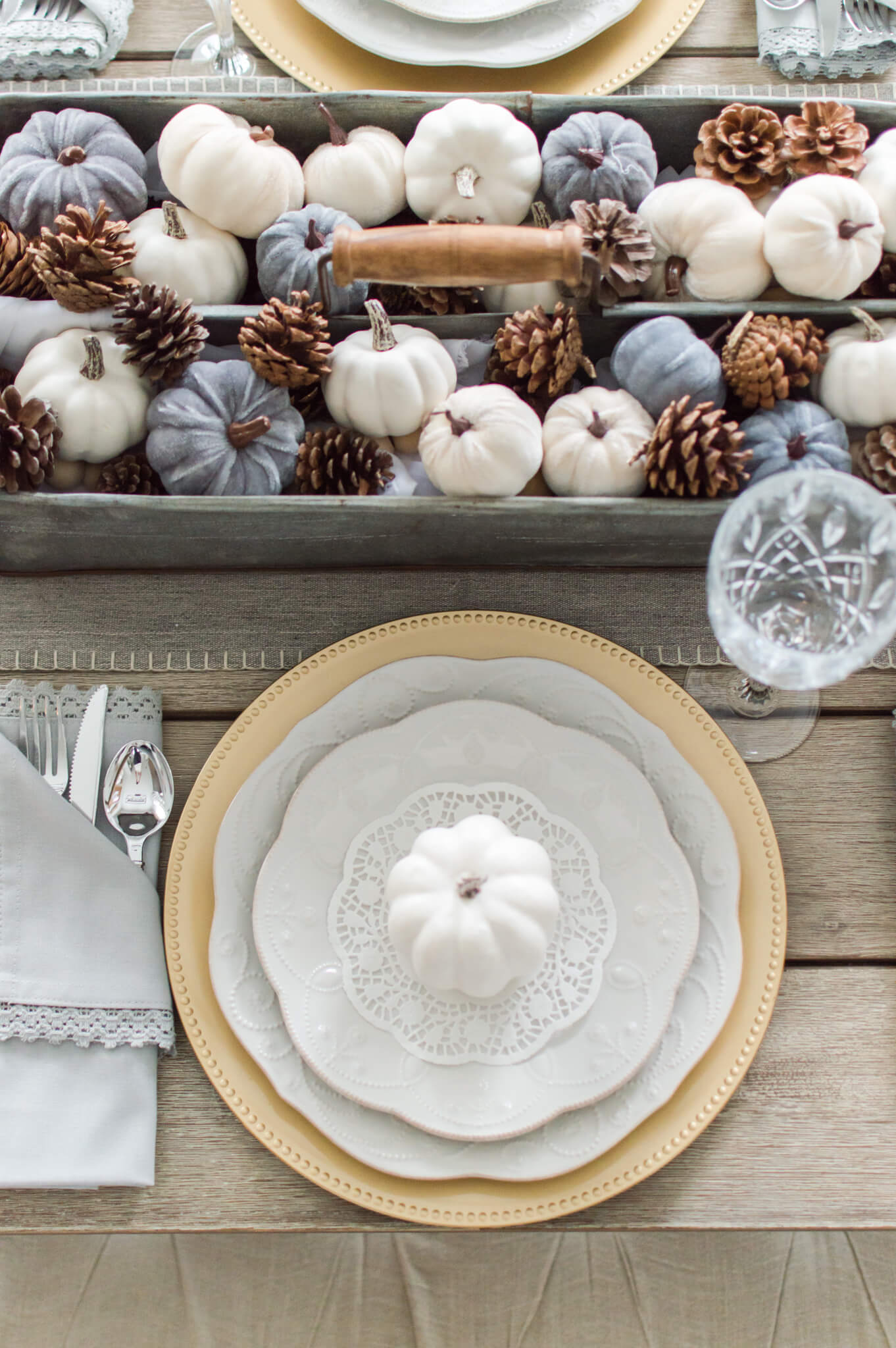 An Elegant Farmhouse Thanksgiving Tablescape / A Hosting Home Blog