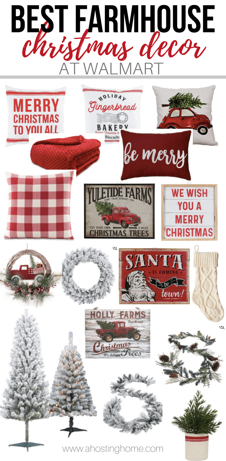 Farmhouse Christmas Decor at Walmart / A Hosting Home Blog
