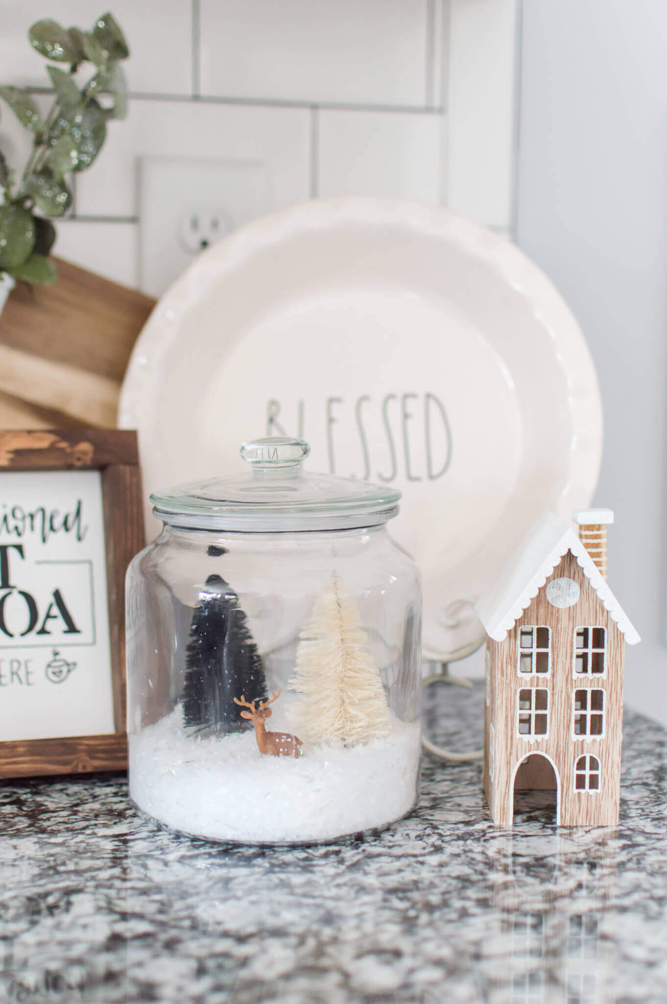 DIY Snow Globes with Glass Jars