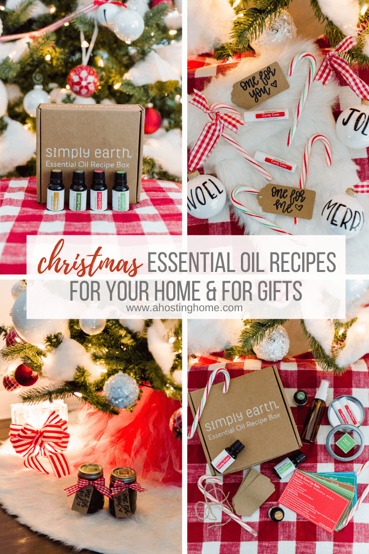 Christmas Essential Oil Recipes // Simply Earth December Essential Oil Recipe Box // A Hosting Home Blog