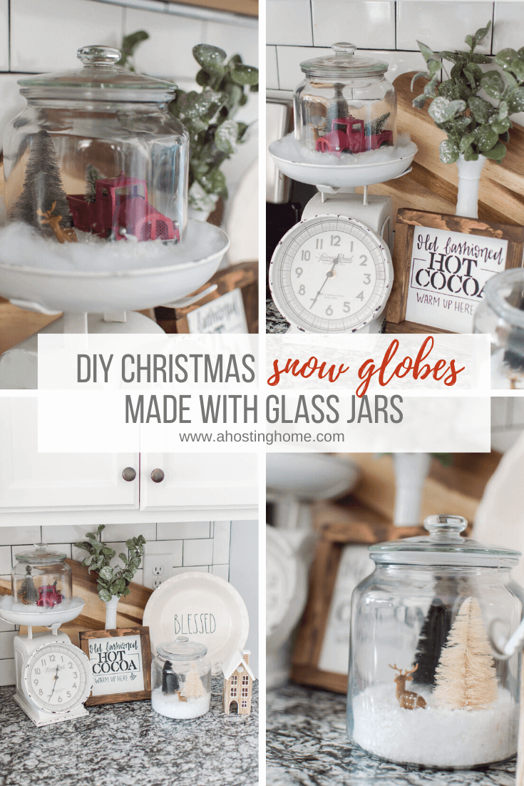 DIY Snow Globes Made with Glass Jars / A Hosting Home Blog