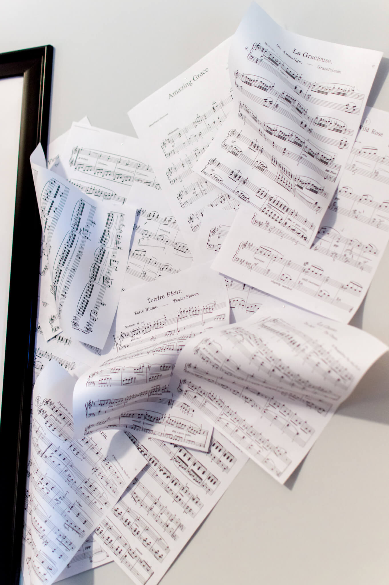 DIY Sheet Music Wall // A Hosting Home Blog