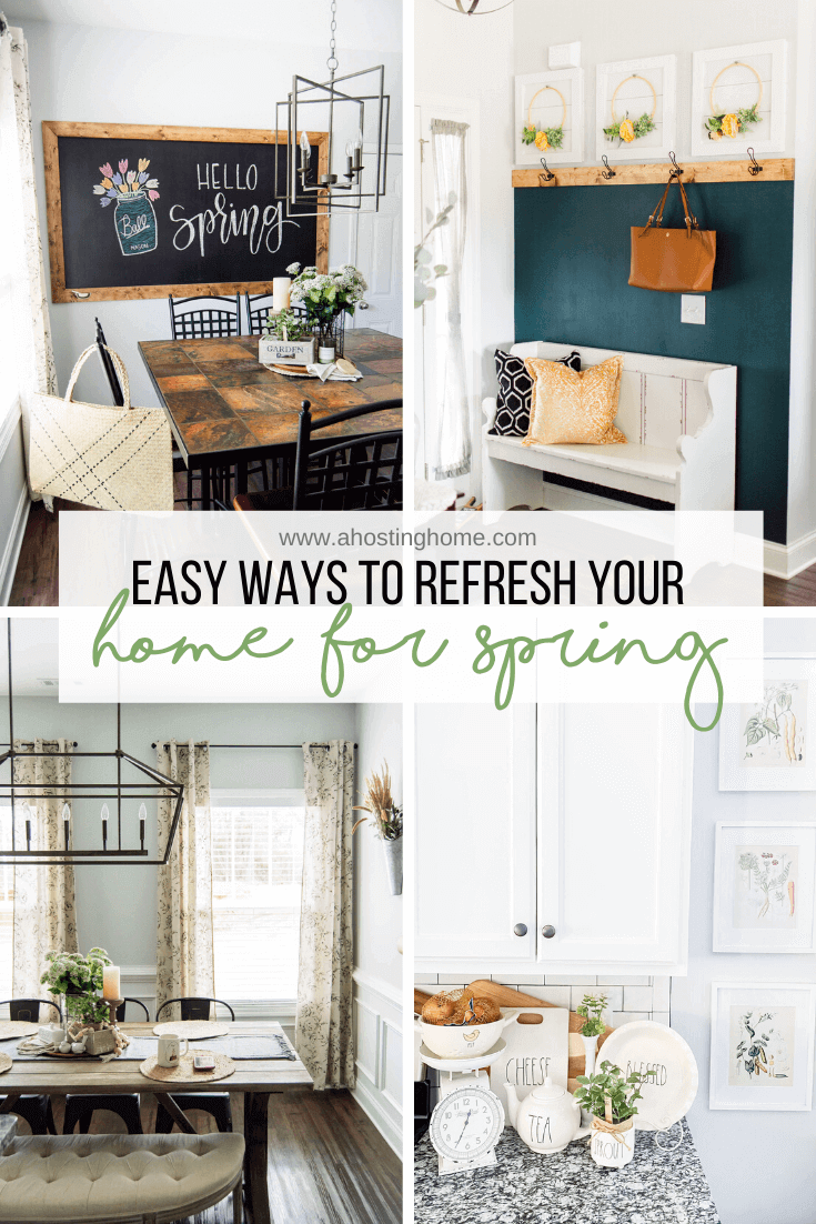 Easy Ways to Refresh Your Home For Spring / A Hosting Home Blog