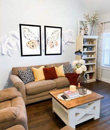 DIY Sheet Music Wall // A Hosting Home Blog