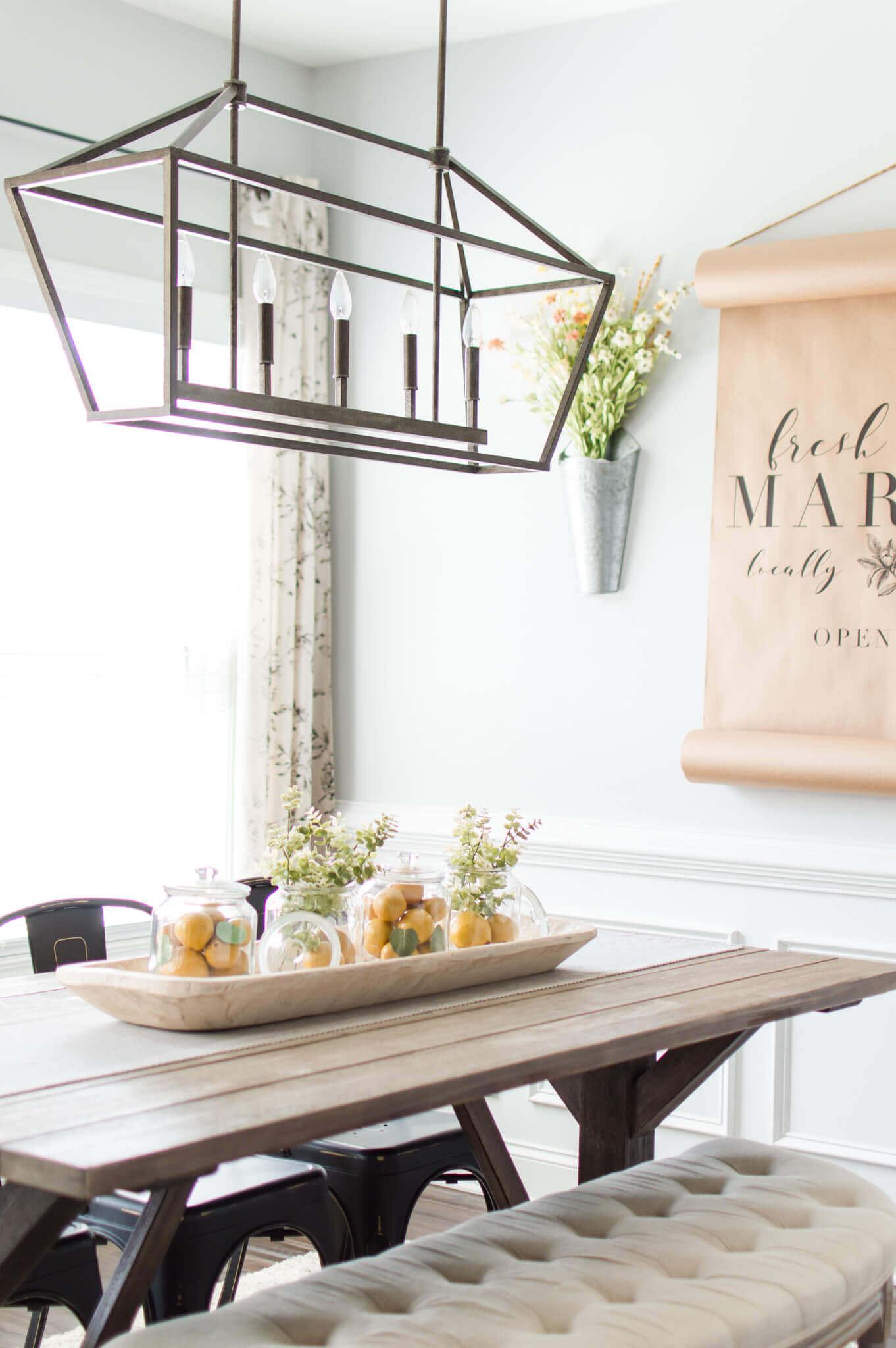 Lemon Jar Centerpiece Idea for Spring / A Hosting Home Blog